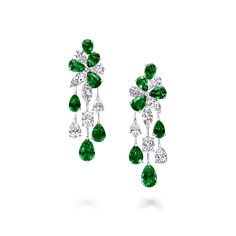 Jewelry OFF! Discover our extraordinary Emerald and Diamond Earrings from the High Jewellery Collection at Graff. Enter a world of unrivalled rarity. Emerald Earrings, Emerald Jewelry, Pearl Stud Earrings, Diamond Pendant Necklace, High Jewelry, Diamond Jewelry, Silver Jewelry, Diamond Necklaces, Cz Jewellery