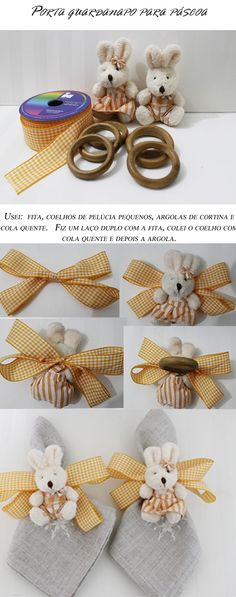 argola porta guardanapo - Pesquisa Google Handmade Crafts, Diy And Crafts, Arts And Crafts, Napkin Folding, Ribbon Work, Dinner Napkins, Deco Table, Easter Crafts, Napkin Rings