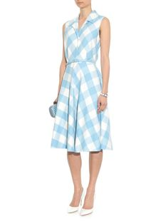 Gingham wool-blend dress | Oscar De La Renta | MATCHESFASHION.COM US