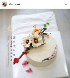 Korean 3D flower buttercream cake.
