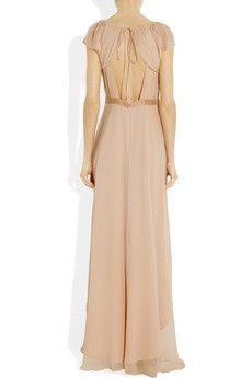 http://fashionpin1.blogspot.com - Elizabeth  James sandy silk-chiffon dress