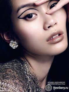 Beauté-images sur les pages de Vogue automne
