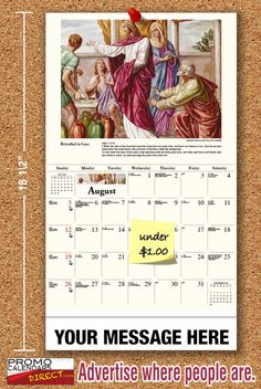 2021 Catholic Art Wall Calendars low as Fundraise for your Church or School. Promote your Business in the homes and offices of people in your area every day! Catholic Art, Promote Your Business, Fundraising, Parents, Calendar, Student, Canvas, School, Inspiration