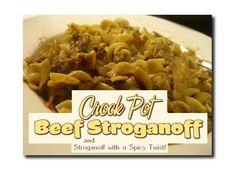Easy Crock Pot Beef Stroganoff