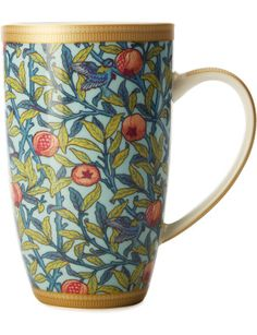 William Morris Bird & Pomegranate Coupe Mug 420ml Gb