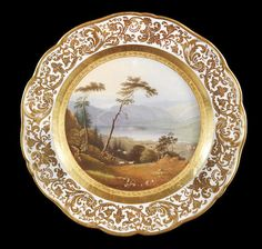 A Russian Imperial porcelain plate from a hunting service Imperial Porcelain Factory, St. Petersburg, 1841