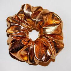 Gold Scrunchie by HanasDesigns on Etsy