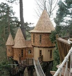 treehouse princess castle, dream, fairy houses, tree houses, treehous, castles, trees, backyard, kid