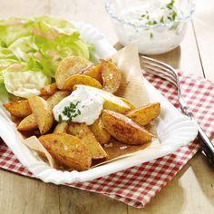 Potato Wedges mit Sour Cream Rezepte | Weight Watchers