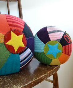 Personalized Sweater Ball GIANT BRIGHT by handmadepretties