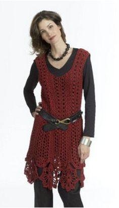 Free Crochet Pattern for Caron Openwork Dress by Doris Chan, on Michaels / http://www.michaels.com/Caron-Openwork-Dress/e06094,default,pd.html