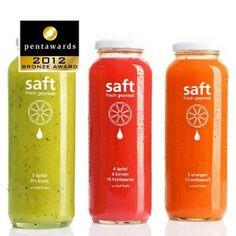 pentawards设计大奖——饮料包装类铜奖(果汁)品牌: saft – True fruits juice 设计机构:True fruits Gmbh. 国家:德国