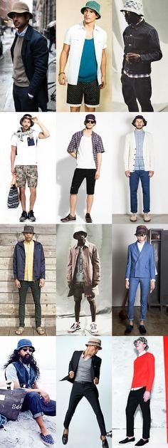 2014 Men's Summer Hats: The Bucket Hat Lookbook Inspiration