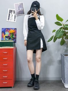 korean fashion ideas that look really great Korean Girl Fashion, Korean Fashion Trends, Ulzzang Fashion, Korean Street Fashion, Korea Fashion, Asian Fashion, Fashion Ideas, Kpop Fashion Outfits, Edgy Outfits