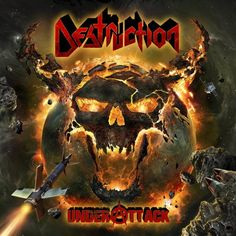German thrash metal gods Destruction have just revealed the cover artwork for their upcoming new album, Under Attack. The incredible artwork was created Thrash Metal, Death Metal, Hard Rock, Crossover, Rock Y Metal, Metal News, Metal Albums, Lp Vinyl, Album Covers