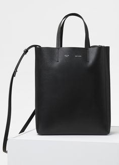 595f86bc13b Celine Fall 2017 Vertical Cabas in Black - SMALL CABAS BAG IN GRAINED  CALFSKIN HAND AND