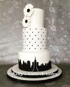 New York theme wedding cake