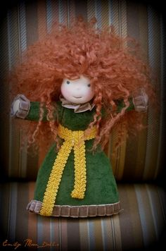 Check out this awesome Waldorf style Merida by Emily Moon Dolls! (http://www.facebook.com/EmilyMoonDolls)