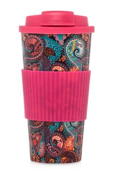 Primark - Taza isotérmica rosa flúor