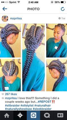 Inward goddess braids...