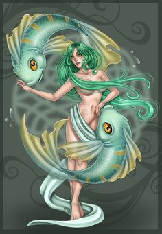 """Pisces:  """"#Pisces commission,"""" by Harpyqueen, at deviantART."""