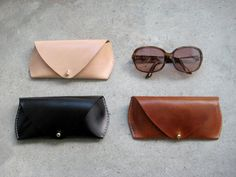 Sonnenbrille-Ledertasche von FitzyDesign auf Etsy