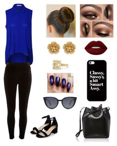 """Blue and Gold"" by aliluvs1d on Polyvore featuring Devoted, River Island, Lime Crime, Casetify, Miriam Haskell, David Yurman, Mansur Gavriel and Fendi"