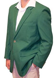 Dress like a champion even if you play like a duffer with a green blazer jacket Looking for something different for your next tournament or corporate promotion. Now you can present the winner of your next tournament with our beautiful JacketMaster Championship Green Blazer Jacket. Our Green...  More details at https://jackets-lovers.bestselleroutlets.com/mens-jackets-coats/lightweight-jackets/golf-jackets/product-review-for-jacket-masters-championship-green-blazer-jacket-si