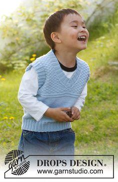 Knitting Patterns Free, Free Knitting, Baby Knitting, Free Pattern, Drops Design, Crochet Crafts, Knit Crochet, Pull Bebe, Knit Patterns