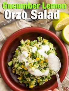 Cucumber Lemon Orzo Salad - Give Recipe
