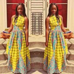 Lovely Ankara Gown Design - http://www.dezangozone.com/2015/12/lovely-ankara-gown-design.html DeZango Fashion Zone