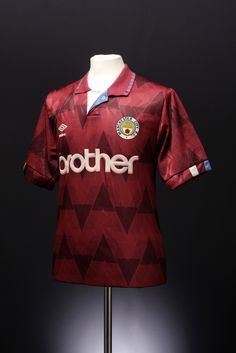 This football shirt is from Umbro's archive. We've been slowly trying to collect and catalogue all our old kits (see our blog post for more details). If you know anything more about this shirt (such which season it's from) please help us out by adding comments and tags.