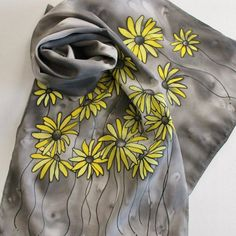 Hand Painted Silk Scarf  Handpainted Scarves by Palettepassion