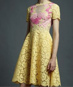 Valentino Resort 2013 Yellow Lace