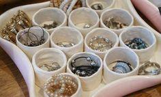 ranger bijoux facilement avec petit compartiment fait maison