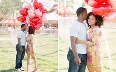 Fun engagement session with balloons!