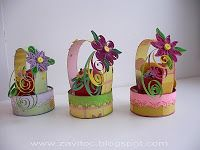 Whorl of Ksyushka - Small Quilled Easter baskets