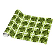 Pancho the Green Robot Gift Wrapping Paper