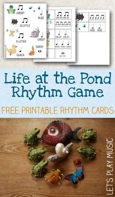 Life at the Pond Rhythm Game with Free Printable Rhythm Cards