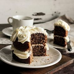 Black Tea Cake with Honey Buttercream.