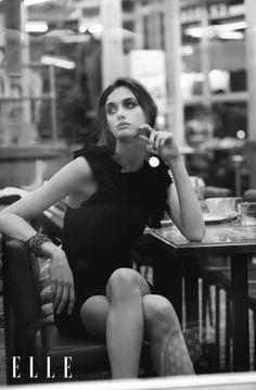 Paris je t'aime: Marylou Moll by Luc Braquet for Elle Vietnam March 2015 - Isabel Marant dress