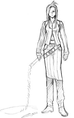 View an image titled 'Quistis Trepe Sketch' in our Final Fantasy VIII art gallery featuring official character designs, concept art, and promo pictures. Final Fantasy Girls, Final Fantasy Artwork, Final Fantasy Characters, Game Character Design, Character Creation, Character Art, Tetsuya Nomura, Disney Kingdom Hearts, Game Concept Art