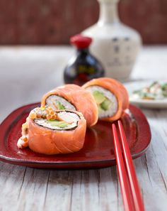 California Lachs-Roll mit Avocado