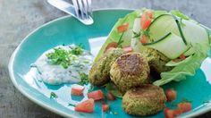 slankeopskrift: Grønne falafler med raita | Femina