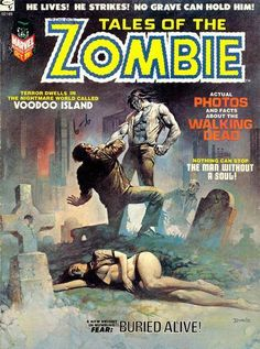 "Boris Vallejo ""Tales of the Zombie"" #2, 1973."