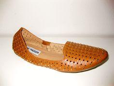Steve Madden Camel Loafer Studded Flat