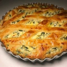 Quiches, Easy Vegetable Dishes, Brazil Food, Spinach Pie, Savory Tart, Easy Cooking, Drinking Tea, Vegan Vegetarian, Food And Drink