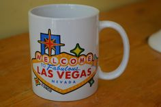 Welcome to Las Vegas Vintage Coffee Or Tea Mug by TheThriftyLab, $14.99