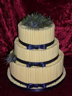 Scottish themed wedding cake.