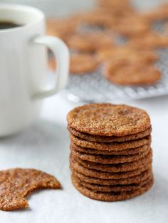 These Swedish ginger snaps (pepparkakor) are truly something special.thin, buttery, crispy on the outside and chewy on the inside. Perfect for an afternoon fika treat! Ginger Snap Cookies, Swedish Ginger Snaps Recipe, Christmas Ginger Cookies, Christmas Candy, Christmas Holidays, Biscuits, Galletas Cookies, Cookie Recipes, Postres